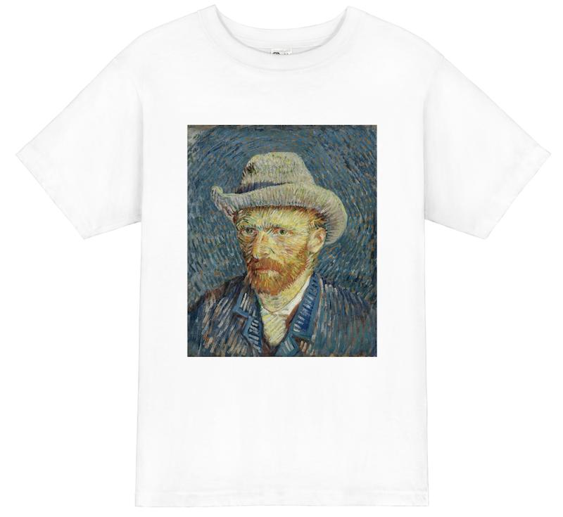 ゴッホ自画像 (灰色のフェルト帽をかぶったもの)Self-Portrait with Felt HatのTシャツ