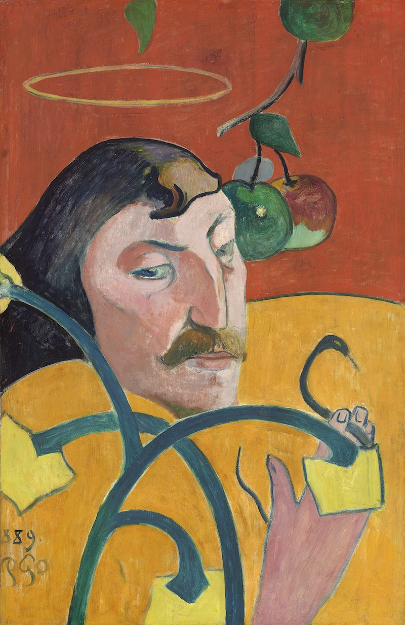 ポール・ゴーギャン光輪のある自画像 Self-Portrait