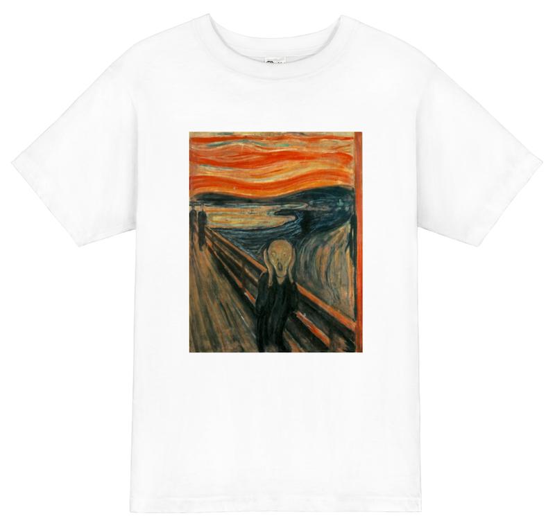 ムンク:油彩の「叫び」 The Scream デザインアートTシャツ